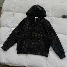 Load image into Gallery viewer, Vintage Stars Pattern Embossing Hoodie
