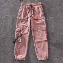 Load image into Gallery viewer, Casual Cargo Letter Embroidered Jogger Pants