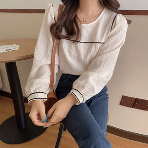 Trendy Puff Sleeve Elegant Shirt