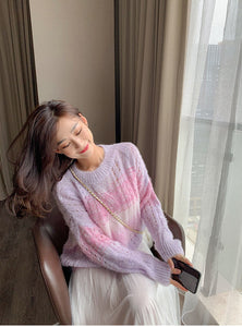 Loose Sweet Colors Knitted Sweater