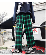 Load image into Gallery viewer, Hip Hop Wide Leg Plaid Loose Pants