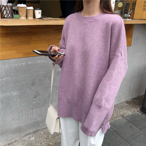 Oversize Style Long Sleeve Knitted Sweater