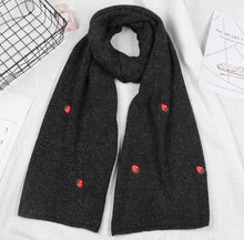 Load image into Gallery viewer, Little Strawberry Embroidered Winter Scarf