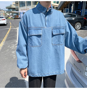 Front Pockets Casual Denim Jacket