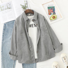 Load image into Gallery viewer, [Women] Corduroy Womens Tops and Blouses Long Sleeve