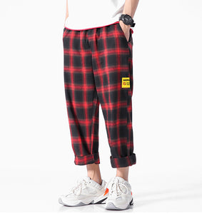 Casual Comfortable Plaid Cotton Pants
