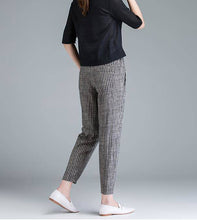 Load image into Gallery viewer, Women Cotton Casual Pants Striped