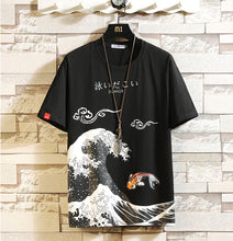 Load image into Gallery viewer, Men's Oversized Printed Anime Cotton T-shirt