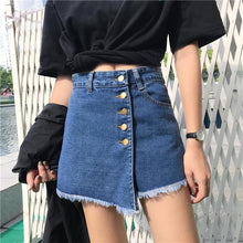 Load image into Gallery viewer, Irregular Style Wide Leg Denim Skirts