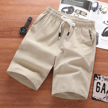 Load image into Gallery viewer, Casual Linen Cotton Shorts