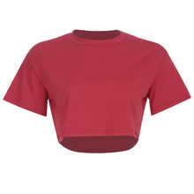 Load image into Gallery viewer, 6 Solid  Colors Loose Cropped Shirt