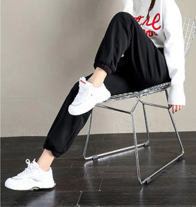 Sweatpants Fleece Solid Thick Warm