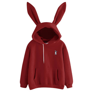 Women Hoodies Kawaii Rabbit Ears