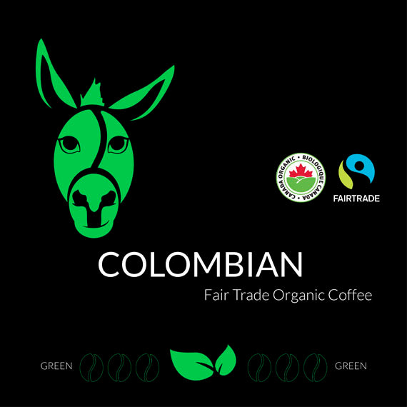 Colombian Certified Fairtrade Organic GREEN RAW
