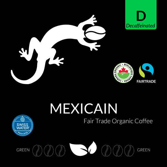 Mexican Decaffeinated Certified Fairtrade Organic GREEN RAW (Swiss Water Decaf)