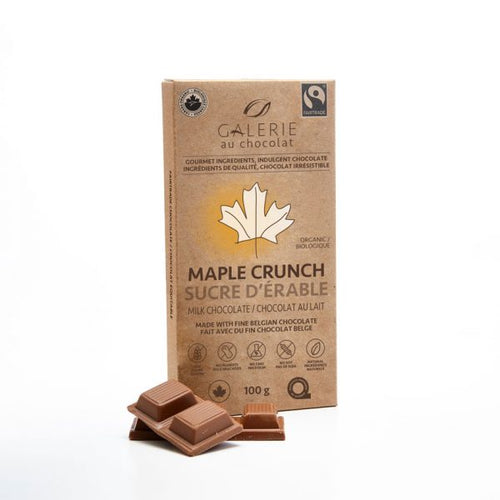 Fairtrade – Milk Chocolate Maple Crunch 100g