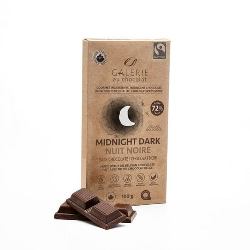 Fairtrade – Dark Chocolate 72% Midnight Dark 100g