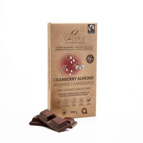 Fairtrade – Dark Chocolate 72% Cranberry Almond 100g