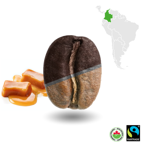 Colombian Half-Dark Certified Fairtrade Organic