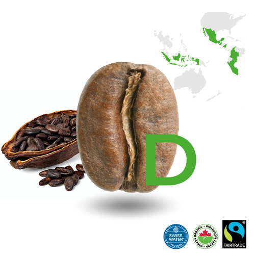Espresso Decaffeinated Light Certified Fairtrade Organic (Swiss Water Process)