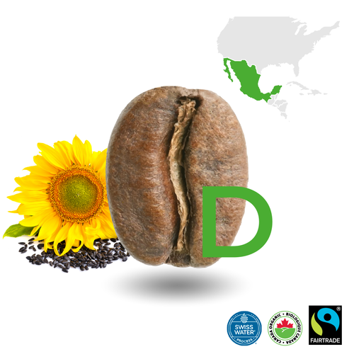 Mexican Light Decaffeinated Certified Fairtrade Organic (Swiss Water Process)