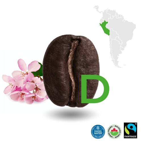 Peruvian Dark Decaffeinated Certified Fairtrade Organic (Swiss Water Process)