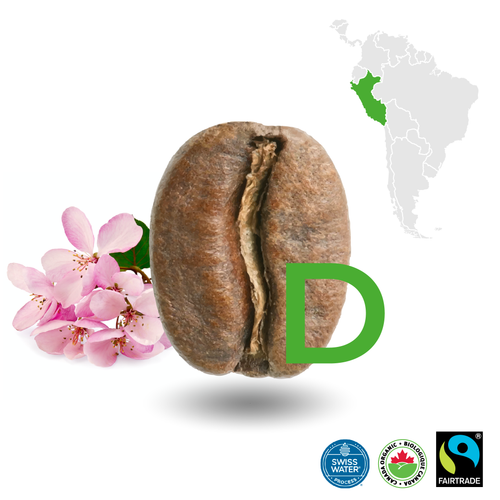 Peruvian Light Decaffeinated Certified Fairtrade Organic (Swiss Water Process)