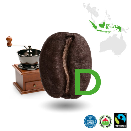 Sumatra Dark Decaffeinated Certified Fairtrade Organic (Swiss Water Process)