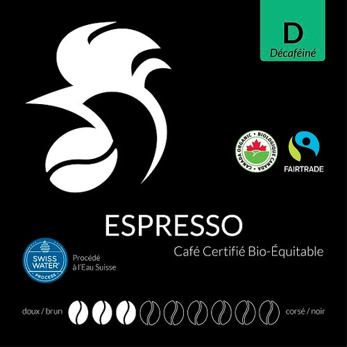 Espresso Decaffeinated Certified Fairtrade Organic (Swiss Water Process)