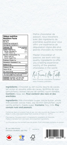 Maple sugar Milk chocolate gourmet bar 50g