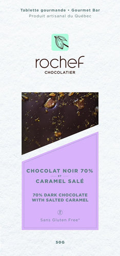 Salted caramel Dark chocolate gourmet bar 50g