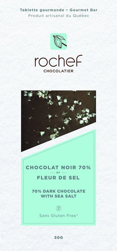 Sea salt Dark chocolate gourmet bar 50g
