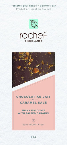 Salted caramel Milk chocolate gourmet bar 50g