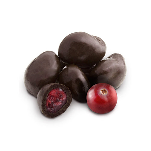 Dark chocolate covered real dried cranberries 150g. Gift box