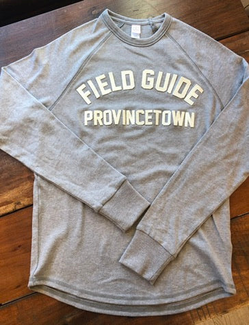 Provincetown Vintage Moto Jersey in Ivory on Dark Grey