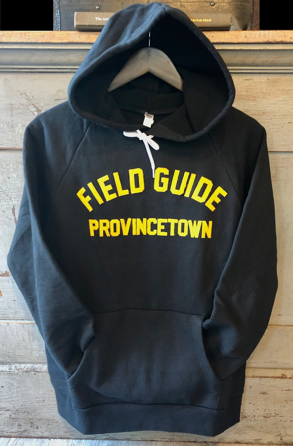 Provincetown Heavyweight Hoodie in Black and Gold
