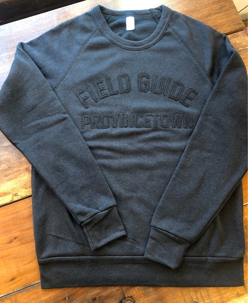 Provincetown Fleece Crewneck in Black