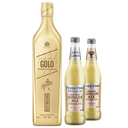 Johnnie Walker Gold Label 70cl (Plus Free Fever Tree Ginger Ale 2 x 500ml)