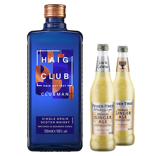 Haig Club Clubman 70cl (Plus Free Fever Tree Ginger Ale 2 x 500ml)