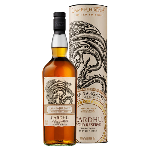 House Targaryen Cardhu Gold Reserve Single Malt Scotch Whisky, 70cl