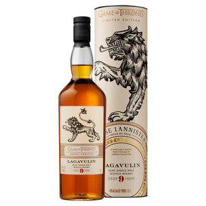 House Lannister Lagavulin 9 Year Old Single Malt Scotch Whisky, 70cl