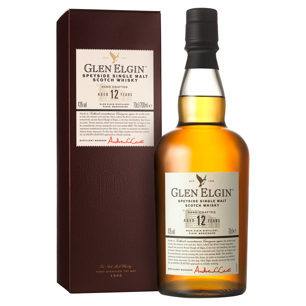 Glen Elgin 12 Year Old Single Malt Scotch Whisky, 70cl