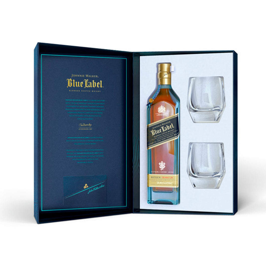 Johnnie Walker Blue Label Gift Pack plus 2 glasses