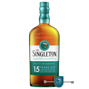 The Singleton of Dufftown 15 Year Old Single Malt Scotch Whisky, 70cl (Plus Free Pour & Roll Jigger)