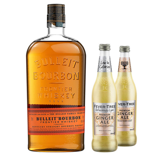 Bulleit Bourbon 70cl (Plus Free Fever Tree Ginger Ale 2 x 500ml)