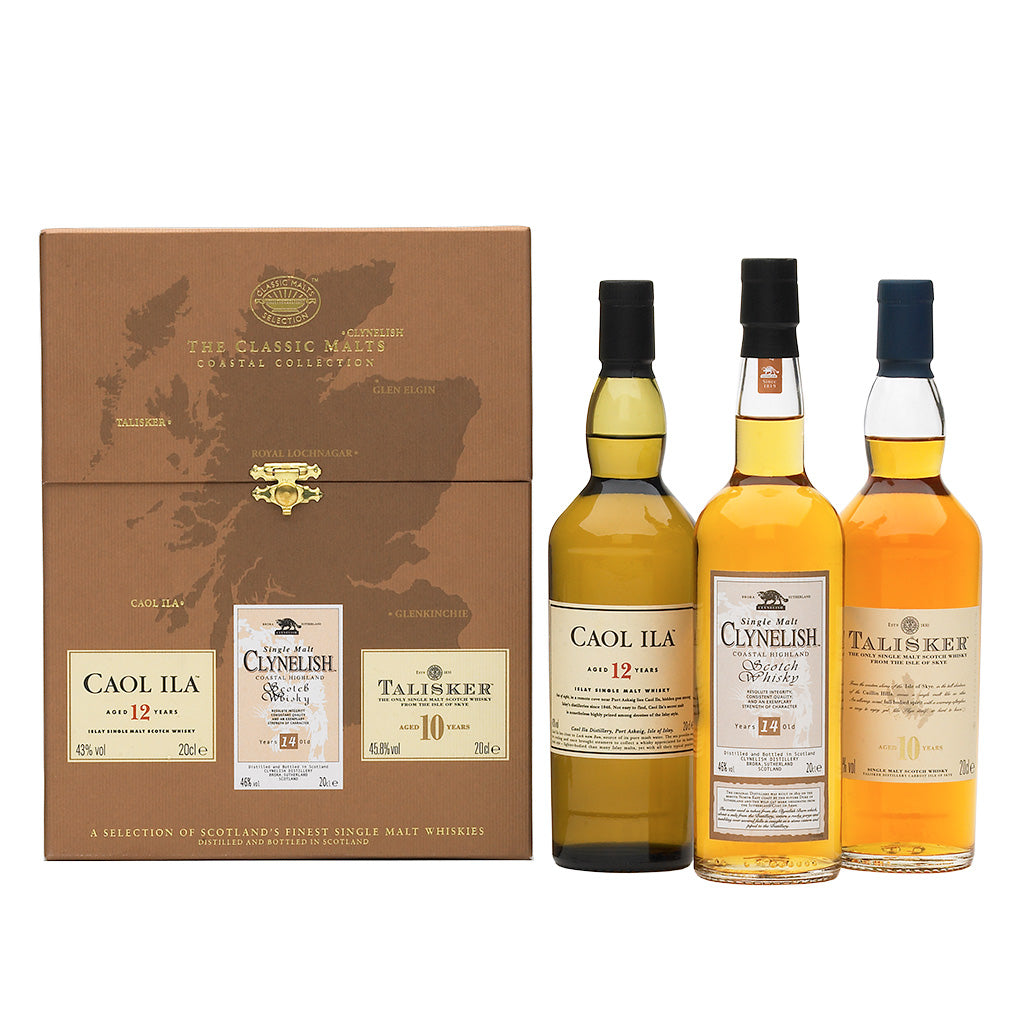 The Whisky Classic Malts™ Coastal Collection Gift Pack 3x20cl