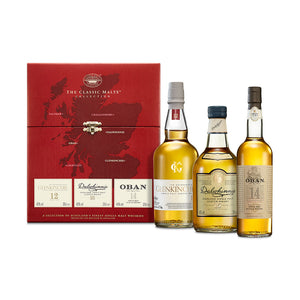 The Whisky Classic Malts™ Gentle Collection Gift Pack 3x20cl