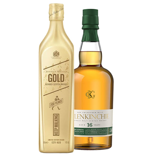 Glenkinchie 16 Year Old & Johnnie Walker Gold Label Whisky Bundle, 2x70cl