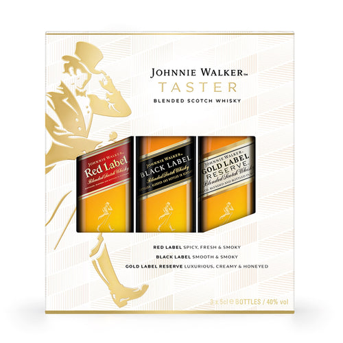 Johnnie Walker Blended Scotch Whisky Taster Pack, 3x5cl