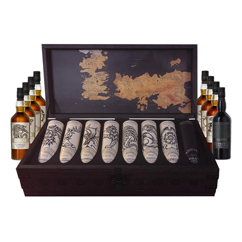 Game of Thrones 8 Bottle Whisky Collection Plus Collectors Chest